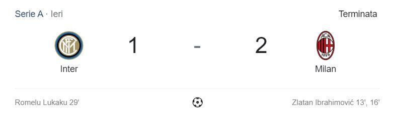 Inter-Milan 1-2